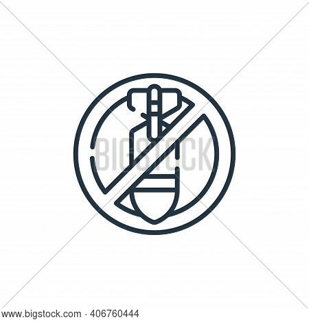 no war icon isolated on white background from hope collection. no war icon thin line outline linear
