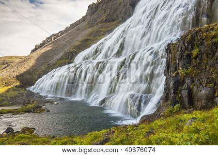 Waterfall Dynjandi - Westfjords, Iceland.