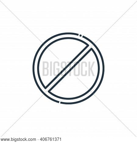 no stopping icon isolated on white background from signaling collection. no stopping icon thin line