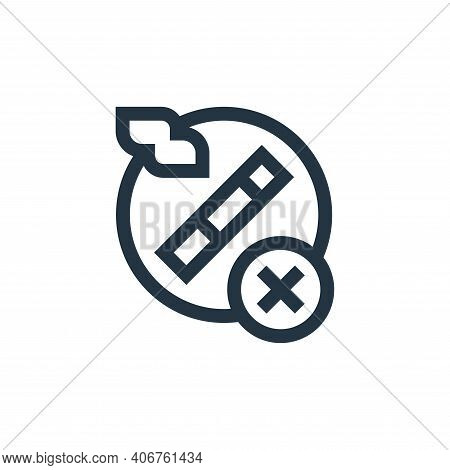 no smoking icon isolated on white background from ramadan collection. no smoking icon thin line outl