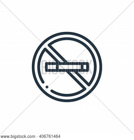 no smoking icon isolated on white background from taxi service collection. no smoking icon thin line