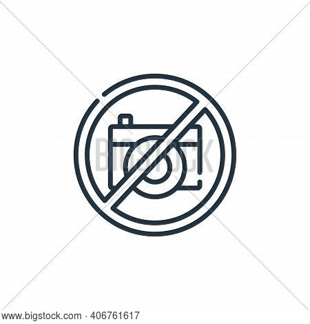 no photo icon isolated on white background from signals and prohibitions collection. no photo icon t