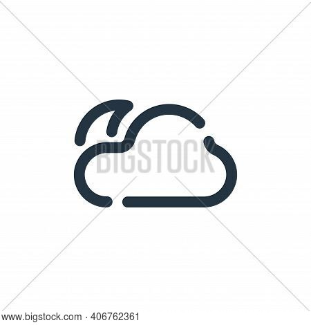 night icon isolated on white background from weather collection. night icon thin line outline linear