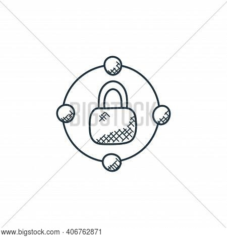 network icon isolated on white background from technology collection. network icon thin line outline