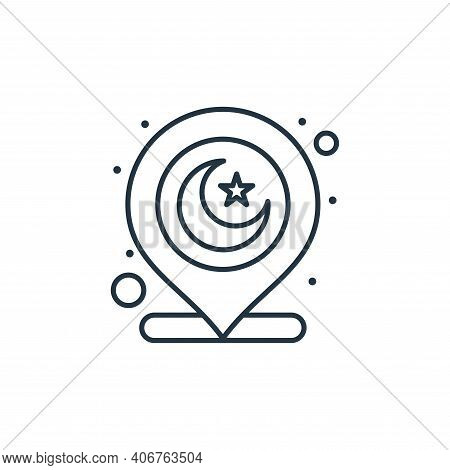 muslim icon isolated on white background from islam and ramadan collection. muslim icon thin line ou