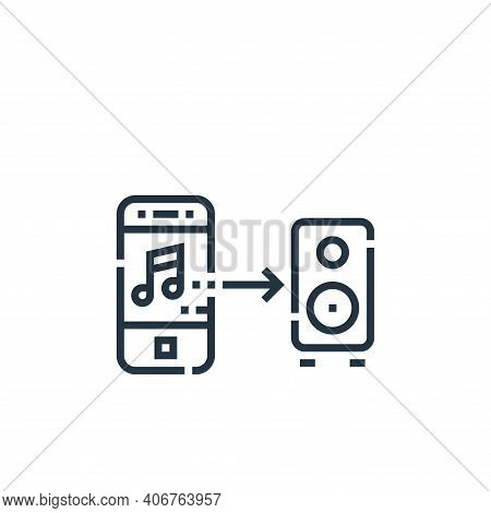 music control icon isolated on white background from smarthome collection. music control icon thin l