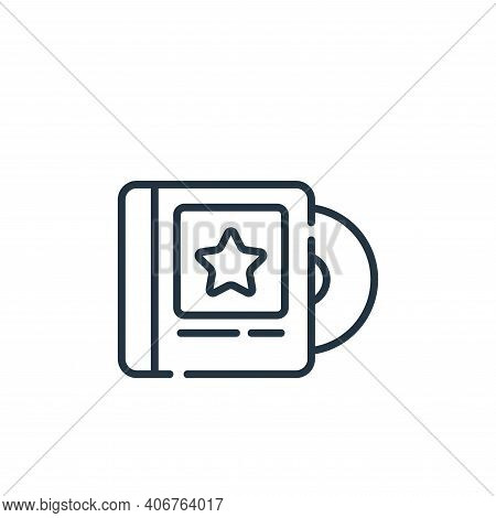 music album icon isolated on white background from music collection. music album icon thin line outl