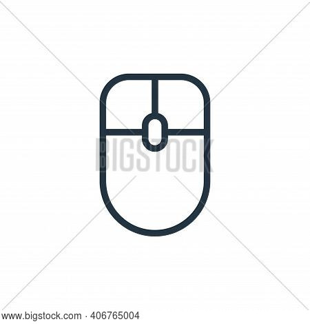 mouse icon isolated on white background from contact collection. mouse icon thin line outline linear