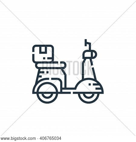 motorcycle icon isolated on white background from delivery collection. motorcycle icon thin line out