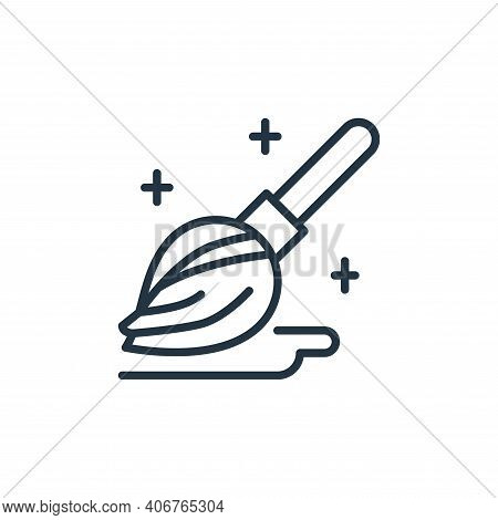 mop icon isolated on white background from stop virus collection. mop icon thin line outline linear