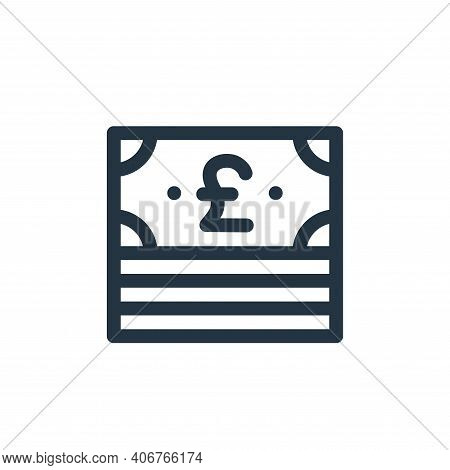 money icon isolated on white background from england collection. money icon thin line outline linear
