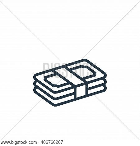 money icon isolated on white background from money collection. money icon thin line outline linear m