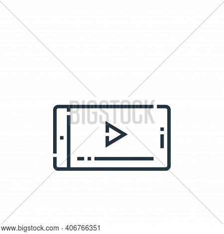 mobile phone icon isolated on white background from videoblogger collection. mobile phone icon thin