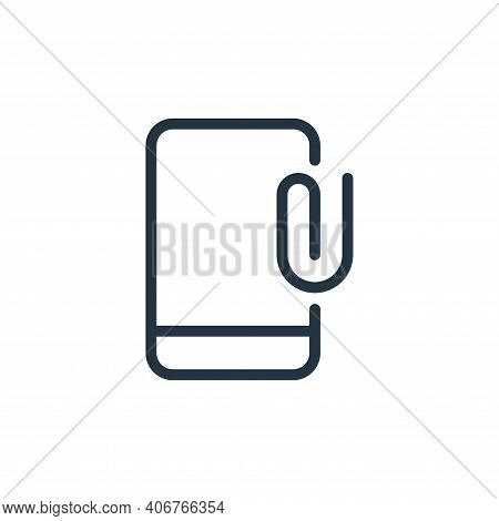 mobile phone icon isolated on white background from work office supply collection. mobile phone icon