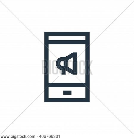 mobile marketing icon isolated on white background from advertisement collection. mobile marketing i