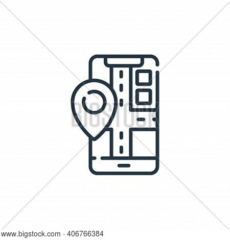 mobile map icon isolated on white background from navigation and maps collection. mobile map icon th