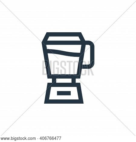 mixer icon isolated on white background from vegan collection. mixer icon thin line outline linear m