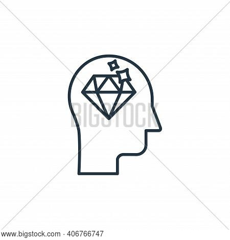 mind icon isolated on white background from casino collection. mind icon thin line outline linear mi