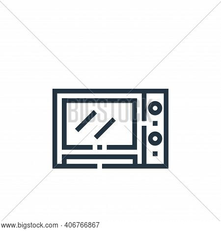 microwave oven icon isolated on white background from inside home collection. microwave oven icon th