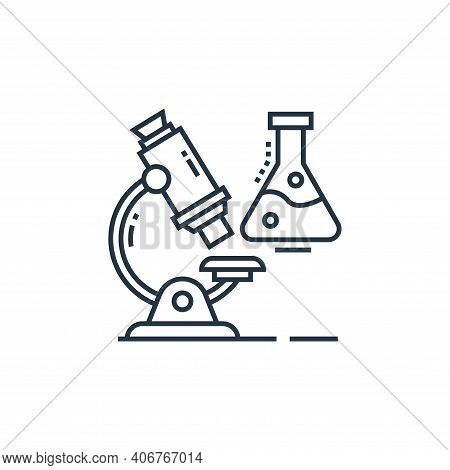 microscope icon isolated on white background from technology devices collection. microscope icon thi