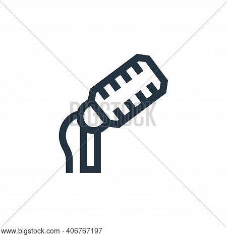 microphone icon isolated on white background from rock and roll collection. microphone icon thin lin