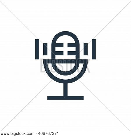 microphone icon isolated on white background from electronics collection. microphone icon thin line