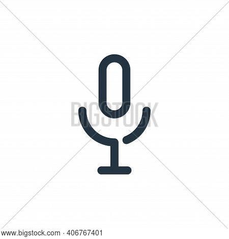 microphone icon isolated on white background from multimedia collection. microphone icon thin line o