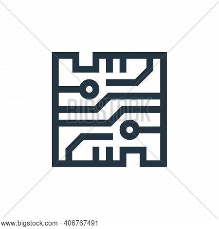 microchip icon isolated on white background from industrial process collection. microchip icon thin