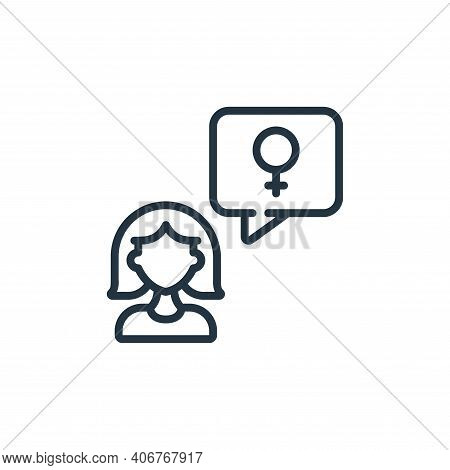 message icon isolated on white background from womens day collection. message icon thin line outline