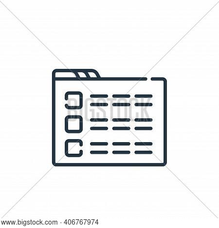 menu icon isolated on white background from web development collection. menu icon thin line outline