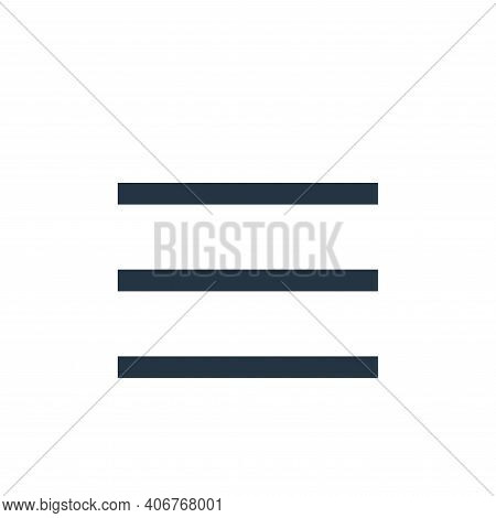 menu icon isolated on white background from user interface collection. menu icon thin line outline l