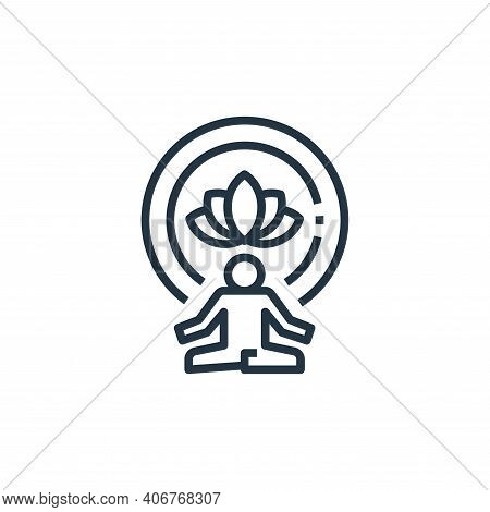meditation icon isolated on white background from work life balance collection. meditation icon thin