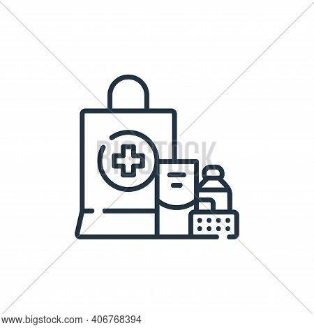 medicine icon isolated on white background from delivery collection. medicine icon thin line outline