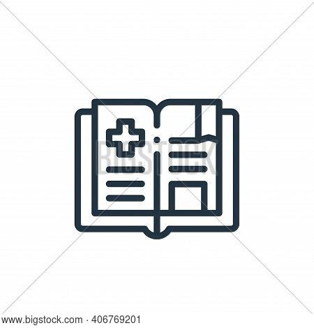 medical book icon isolated on white background from medicine collection. medical book icon thin line