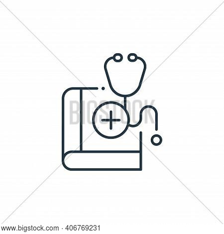medical book icon isolated on white background from coronavirus collection. medical book icon thin l