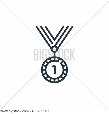medal icon isolated on white background from fame collection. medal icon thin line outline linear me