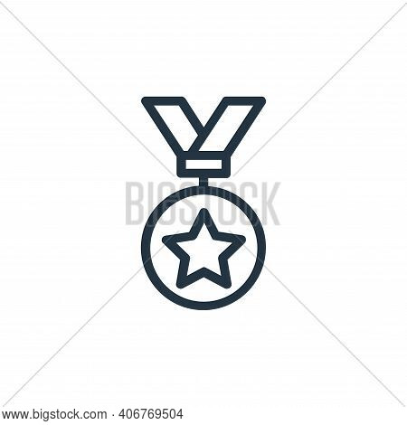 medal icon isolated on white background from banking and finance flat icons collection. medal icon t
