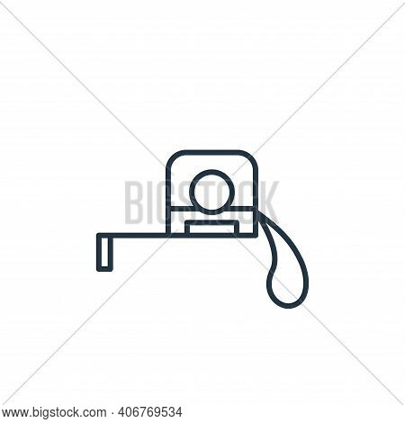 measuring tape icon isolated on white background from carpentry collection. measuring tape icon thin