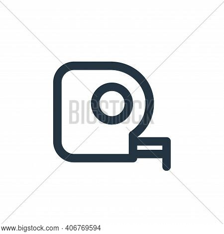 measuring tape icon isolated on white background from labour day collection. measuring tape icon thi