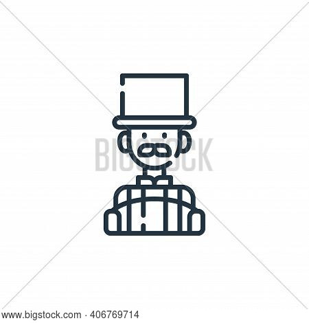 master of ceremonies icon isolated on white background from circus collection. master of ceremonies