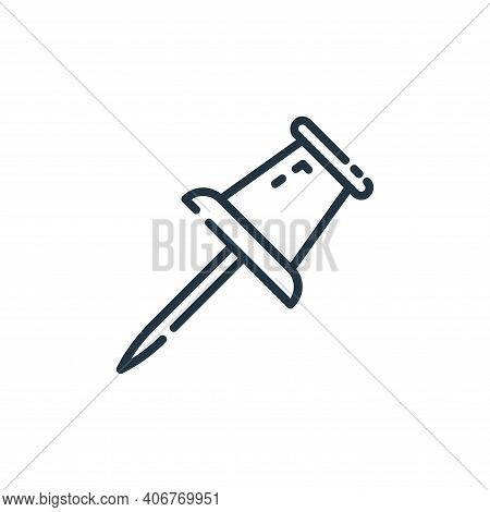 marker icon isolated on white background from user interface collection. marker icon thin line outli