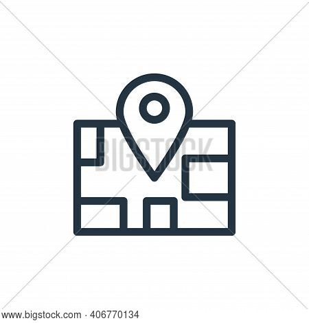 maps icon isolated on white background from holiday collection. maps icon thin line outline linear m