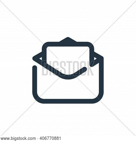 mail icon isolated on white background from seo collection. mail icon thin line outline linear mail