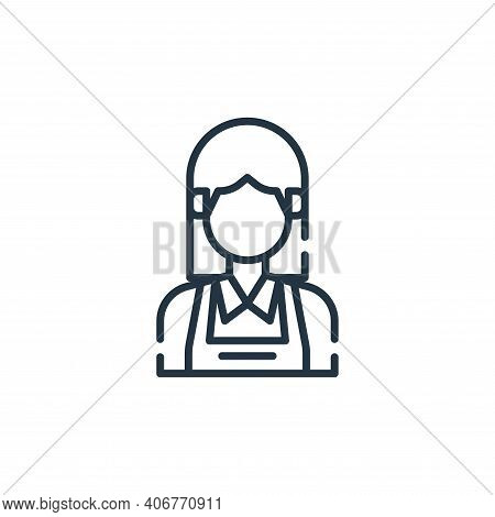 maid icon isolated on white background from cleaning collection. maid icon thin line outline linear