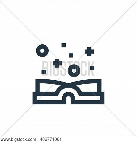 magic book icon isolated on white background from video game elements collection. magic book icon th
