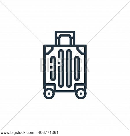 luggage icon isolated on white background from travel collection. luggage icon thin line outline lin