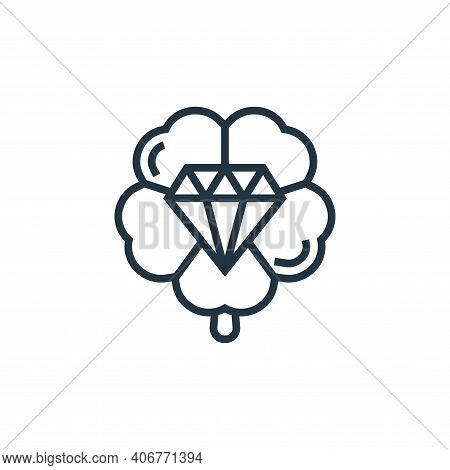 lucky icon isolated on white background from casino collection. lucky icon thin line outline linear
