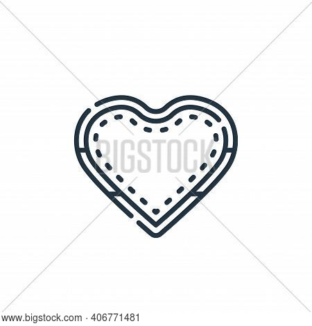love icon isolated on white background from hippies collection. love icon thin line outline linear l