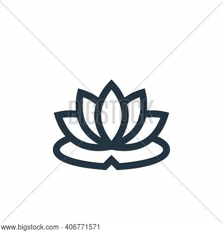lotus flower icon isolated on white background from alternative medicine collection. lotus flower ic
