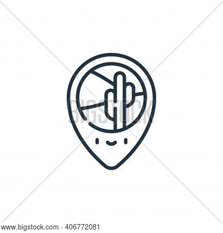 location icon isolated on white background from desert collection. location icon thin line outline l